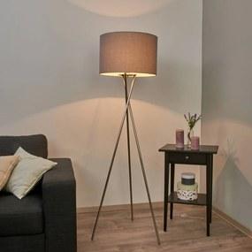 Driepoots vloerlamp Fiby met grijze kap - lampen-24
