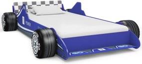 Kinderbed raceauto 90x200 cm blauw