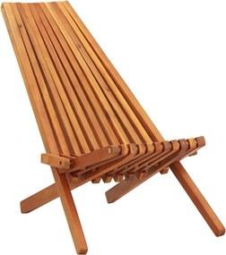 Loungestoel inklapbaar massief acaciahout