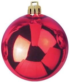 Kerstbal 10cm, red 4x