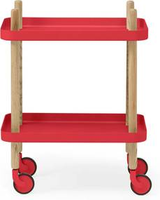 Normann Copenhagen Block Keukentrolley In Scandinavisch Design Rood - 50 X 35cm.