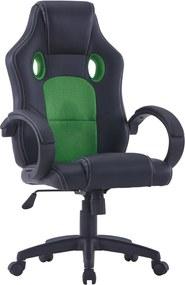 Gamestoel kunstleer groen