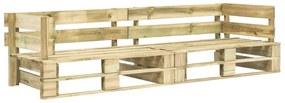 Tuinbank 2-zits pallets FSC hout groen