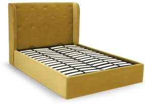 Ormond kingsizebed met opbergruimte, vintage goud fluweel