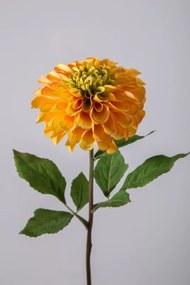 Zinnia - zijden bloem - geel - topkwaliteit