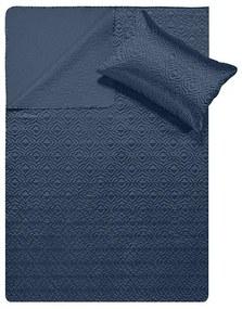 DreamHouse Bedding Bedsprei - Satin Orlando - Navy 180 x 250 + 1 kussensloop