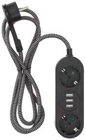 USB-stekkerdoos 2-voudig