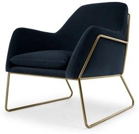 Frame fauteuil, marineblauw fluweel