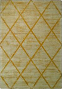 More99 | Vloerkleed Luxury Lines lengte 80 cm x breedte 150 cm x hoogte 1.3 cm geel vloerkleden bovenkant: 100% viscose, | NADUVI outlet