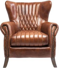 Kare Design Country Side Fauteuil Bruin Leer Country Side