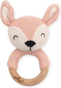 Bijtring 7cm Deer - Pale pink - Bijtringen