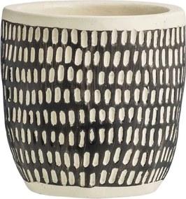 Bloempot Twan - zwart - 12xØ12 cm - Leen Bakker