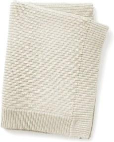 Wool knitted blanket - Vanilla White - Babydeken