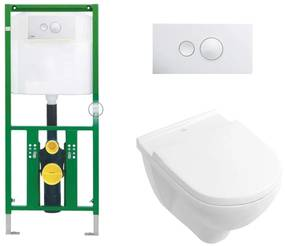 Viega EcoPlus Toiletset Set19 Villeroy & Boch O.novo met Visign for Style 10 drukplaat