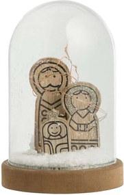 Beeld Heilige Familie in stolp - bruin - 16,5xØ11 cm - Leen Bakker