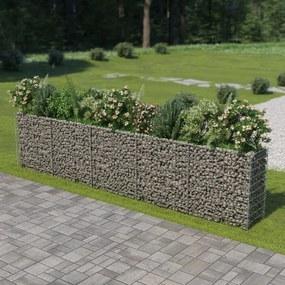 Gabion plantenbak verhoogd 450x50x100 cm gegalvaniseerd staal