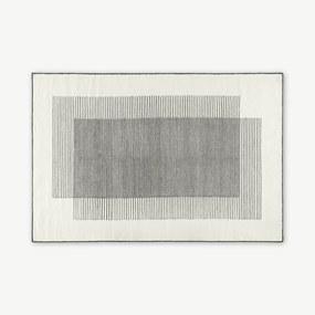 Caixa wollen vloerkleed, groot, 160 x 230 cm, gebroken wit en zwart