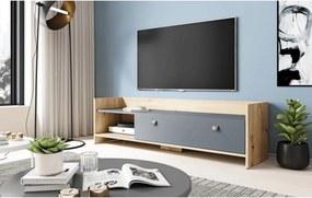 TV kast Artisan Eiken & Antraciet - 140 cm