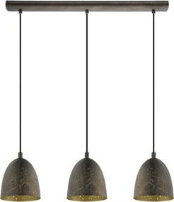 EGLO hanglamp Safi 3-lichts - bruin/goud - Leen Bakker