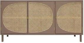 HKliving Webbing dressoir bruin