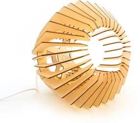 Bomerango Original Naturel - Tafellamp - Medium Ø 37 cm - Koordset wit- Tafellampen - Hanglamp - Vloerlamp - Scandinavisch design