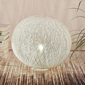Tafellamp Julio, bolvormig, wit, papier