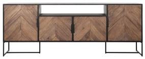 DTP Home Criss Cross TV-dressoir Met Visgraat Patroon - 200x40x75cm.