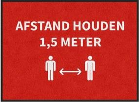 Deurmat 'Afstand houden' anderhalve meter - 85x115 cm