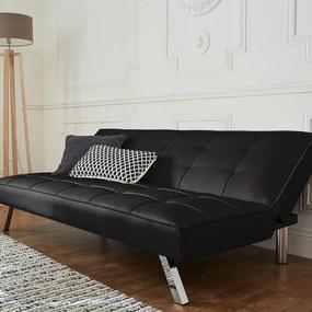 Slaapbank - 3-zits - Kunstleer - Zwart DreamHouse Bedding - Ga naar Dekbed-Discounter.nl & Profiteer Nu