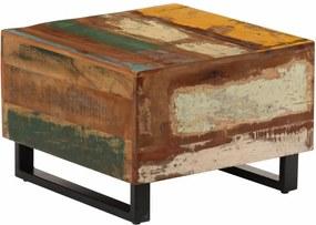 Salontafel 50x50x35 cm massief gerecycled hout