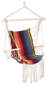 Hangstoel met franjes - multikleur - 90x95x50 cm