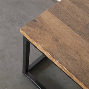 Salontafel Fred  110 cm - Hout - Metaal - Giga Meubel - Industrieel & robuust