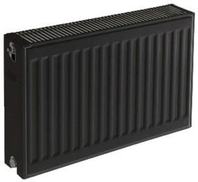 Plieger paneelradiator compact type 22 600x1400mm 2456W zwart grafiet (black graphite) 7341072