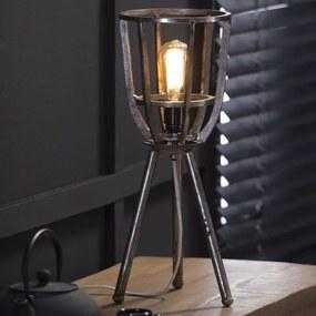 Vintage Tafellamp Op Driepoot