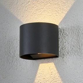 Halfronde LED-buitenwandlamp Ella - lampen-24