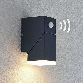 LED buitenwandlamp Sally, 1-lamps met sensor - lampen-24