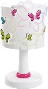 Tafellamp Butterfly 29 cm wit