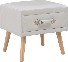 Nachtkastje 40x35x40 cm kunstleer wit