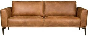 3-zits bank Tulp | leer Colorado cognac 03 | 2,15 mtr breed