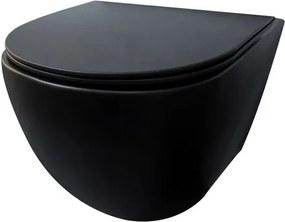 Best Design Morrano Compact wandcloset rimfree 49cm incl softclose zitting mat zwart 4006720
