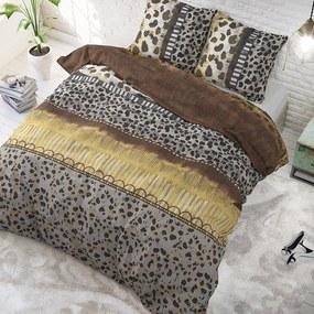 DreamHouse Bedding Trendy Panther - Taupe 1-persoons (140 x 220 cm + 1 kussensloop) Dekbedovertrek