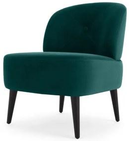 Jasper accent stoel, waterblauw fluweel
