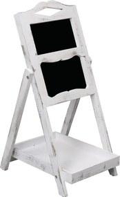 Krijtbord op standaard 33x39x75 cm hout wit
