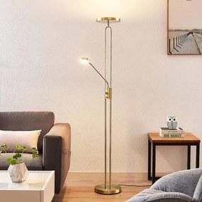Twina LED vloerlamp, messing - lampen-24