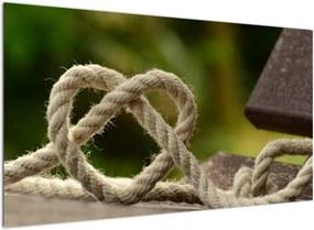 Schilderij - Hart van touw (), 40 andere afmetingen