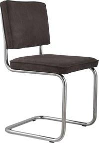 Zuiver Ridge Rib stoel zonder armleuningen grijs set van 2