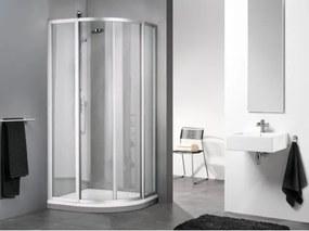 Sealskin Get Wet C110 douchecabine radius 50 kwartrond luxe 80x80x190cm mat zilver profiel en chinchilla glas LV850MZ-C10