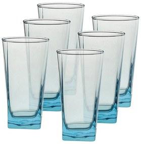 Longdrinkglas blauw - 29 cl - set van 6