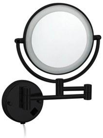 Cosmeticaspiegel Best Design Steiner Ø20cm LED Verlichting 3x Vergroot Mat Zwart