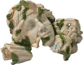 Polyresin ornament Romeins beeld grijs vrouw 23x15 cm